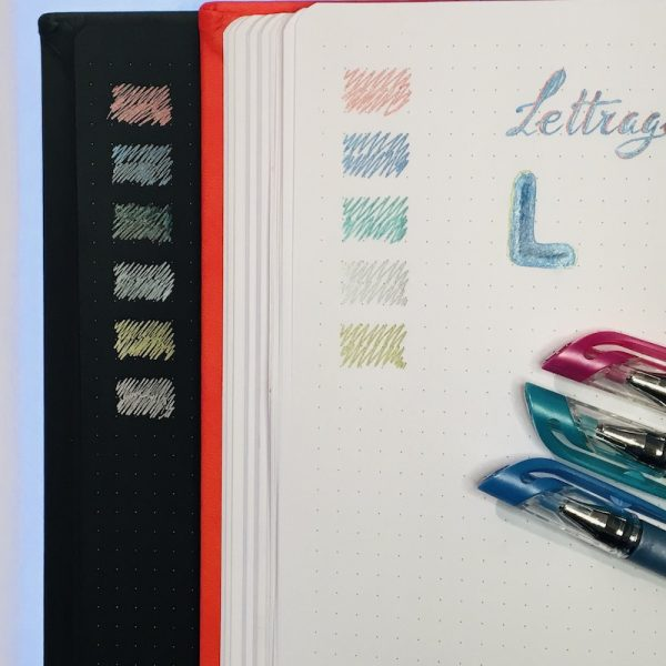 stylo gel bullet journal encre metallique set couleur